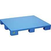 Stackable Smooth Surface Pallet 39x46-7/8, 8800 Lb Floor&2200 Lb Fork Cap.