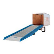 "Bluff® 16SYS7036L Steel Yard Ramp Forklift Dock Ramp 36'L x 70""W 16,000 Lb with Ramp Clamps"