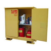 Flammable Safety Cabinet with Roof - 30 Gallon Manual Doors