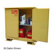 Flammable Safety Cabinet with Roof - 45 Gallon Self Close Doors
