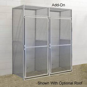 Hallowell BSL486090-R-1A-PL Bulk Storage Locker Single Tier Add-On 48x60x90