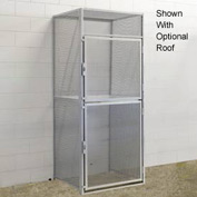 Hallowell BSL484890-R-2S-PL Bulk Tenant Storage Locker Double Tier Starter 48x48x45