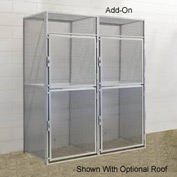Hallowell BSL486090-R-2A-PL Bulk Tenant Storage Locker Double Tier Add-On 48x60x45