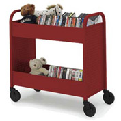 Bretford B234-CD Browser Book Truck Red