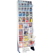 """Quantum Tip Out Bin Floor Stand QFS170-36- Single Sided 70"""" H Gray"""