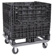 """Buckhorn Steel Dolly For Container - DY3230090099001- 32x30 Footprint, 2 Swivel, 2 Rigid 5"""" Casters"""