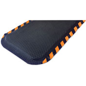 "Hog Heaven Anti Fatigue Mat 7/8"" Thick 33"" W Orange Border from 3 Ft up to 60 Ft"