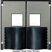 Chase Doors Extra HD Single Panel Traffic Door 4'W x 8'H Metallic Gray DIS4896-MG