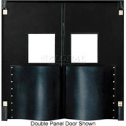 Chase Doors Extra HD Single Panel Traffic Door 4'W x 8'H Black DIS4896-BK