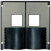 Chase Doors Extra HD Double Panel Traffic Door 6'W x 7'H Metallic Gray DID7284-MG