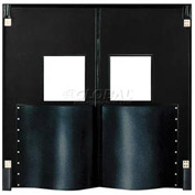 Chase Doors Extra HD Double Panel Traffic Door 6'W x 8'H Black DID7296-BK