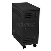 Datum Large Mobile CPU Locker CPU2-M-T25, Black