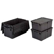 ORBIS Flipak® Distribution Container FP243 - 26-7/8 x 17 x 12 Recycled Black - Pkg Qty 3