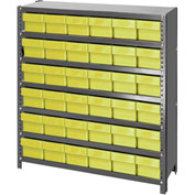 Quantum CL1239-601 Closed Shelving Euro Drawer Unit - 36x12x39 - 36 Euro Drawers Yellow