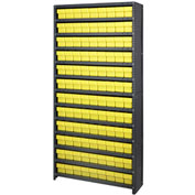 Quantum CL1875-604 Closed Shelving Euro Drawer Unit - 36x18x75 - 108 Euro Drawers Yellow