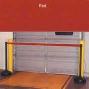 "Economic 49-1/2"" Black Poly Post with 87"" Retractable Tape Red"