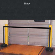 "Economic 49-1/2"" Black Poly Post with 87"" Retractable Tape Black"