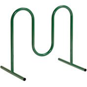 5-Bike Wave Bike Rack, Green, Free Standing