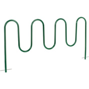 9-Bike Wave Bike Rack, Green, Below Ground Mount