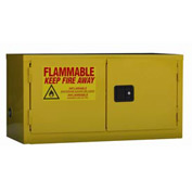 "Global™ Stackable Flammable Cabinet - Self Close Double Door 15 Gal - 43""W x 18""D x 22""H"