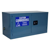 Global&#8482 Stackable Acid Corrosive Cabinet - Manual Close Double Door 11 Gallon - 34x18x22