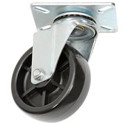 "Replacement 4"" Plastic Caster & Hardware for 1 Cubic Yard Standard Tilt Trucks"