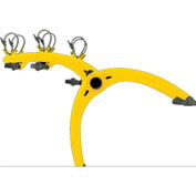 Bike Carriers Truck Mounted Bones 3-Bike Yellow
