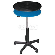 "Vestil Manual 24"" Diameter Pedestal Turntable TT-N-24-CDPED 23"" to 33""H 300 Lb."