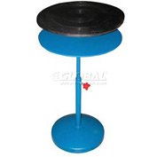 "Vestil Manual 30"" Diameter Pedestal Turntable TT-N-30-DPED 23"" to 34""H 300 Lb."