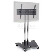 "Mobile Flat Panel Monitor Stand 49"" H"