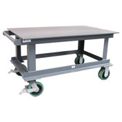 Strong Hold® SC7236/32CA Heavy Duty Portable Steel Table 72 x 36 12,000 Lb.