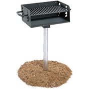 "ADA Rotating Pedestal Outdoor Grill With 3-1/2"" Dia. Post(300 Sq. In. Cooking Surface)"