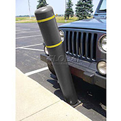 "52""H FlexBollard™ - Asphalt Installation - Black Cover/Yellow Tapes"