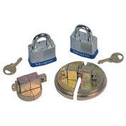 Justrite® 08510 Drum Lock Set with Padlocks for Steel Drums - Pair