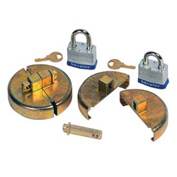 Justrite® 08511 Drum Lock Set with Padlocks for Plastic Drums - Pair
