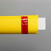 "50""W Soft Nylon Gate Arm Cover - Yellow Cover/Red Tapes"