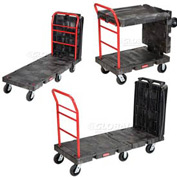"Rubbermaid® 4496 Convertible Platform Truck 6"" Rubber Casters"