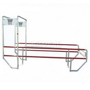 "VersaCart Double Outdoor Shopping Cart Corral with Divider & Double Arch 12'L x 60""W"