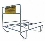 "VersaCart® Triple Outdoor Shopping Cart Corral 12'L x 90""W"