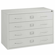 Interion® Media Cabinet 4 Drawer Putty