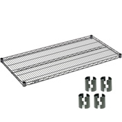 Nexelon™ Wire Shelf 48x18 With Clips