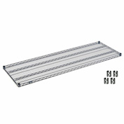 Nexelon™ Wire Shelf 72x24 With Clips
