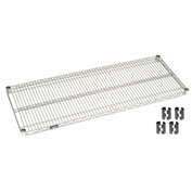 "Nexel S3060C Chrome Wire Shelf 60""W x 30""D with Clips"