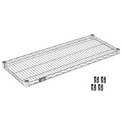 "Nexel S1454C Chrome Wire Shelf 54""W x 14""D with Clips"