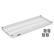 "Nexel S2430C Chrome Wire Shelf 30""W x 24""D with Clips"