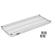 Chrome Wire Shelf 48 x 14 with Clips