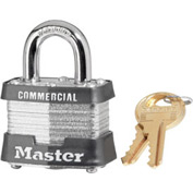 "Master Lock® Laminated Padlock - 3/4"" Shackle - Keyed Alike - Pkg Qty 3"