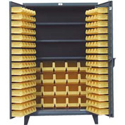 Strong Hold® Heavy Duty Bin Cabinet 36-BBS-243 - With 110 Bins 36x24x78