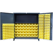 Strong Hold® Heavy Duty Bin Cabinet 66-BBS-241 - With 206 Bins 72x24x78