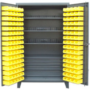 Strong Hold® Heavy Duty Bin Cabinet 46-BSC-301 - With 144 Bins And Drawers 48x30x78